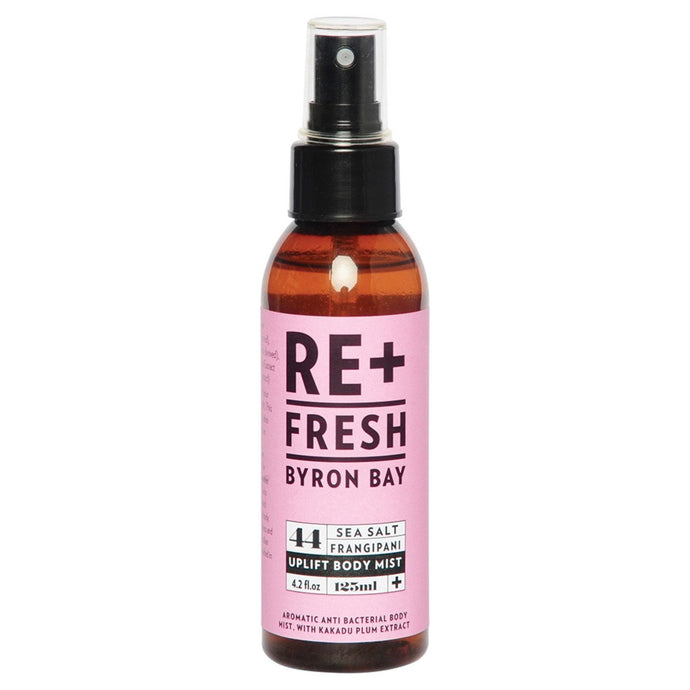 Re+Fresh Byron Bay, Uplift Body Mist (Anti Bact. Body Mist Sea Salt, Frangipani & Kakadu Plum), 125ml