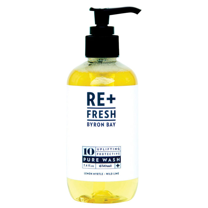 Re+Fresh Byron Bay, Uplifting Protective Pure Wash (With Lemon Myrtle & Wild Lime), 250ml
