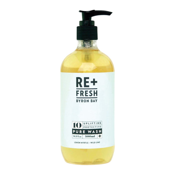 Re+Fresh Byron Bay, Uplifting Protective Pure Wash (With Lemon Myrtle & Wild Lime), 500ml