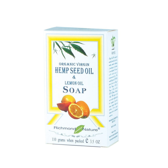 Richmond Nature, Hemp Seed And Lemon Oil Soap, 110g