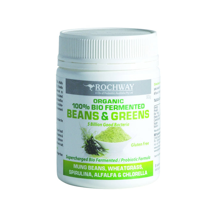 Rochway, Probiotic Powder Supercharged Beans & Greens, 10 Billion Cfu/3g, 90g