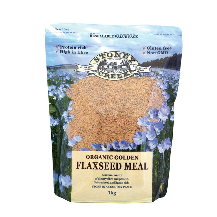 Stoney Creek, Organic Flaxseed Meal Golden, 1Kg