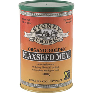 Stoney Creek, Organic Flaxseed Meal Golden, 500g