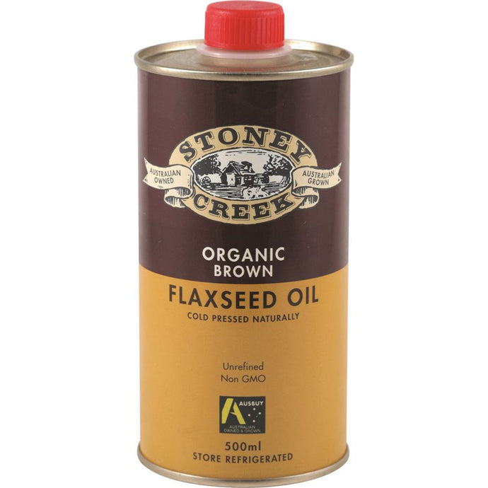 Stoney Creek, Organic Flaxseed Oil Brown, 500ml