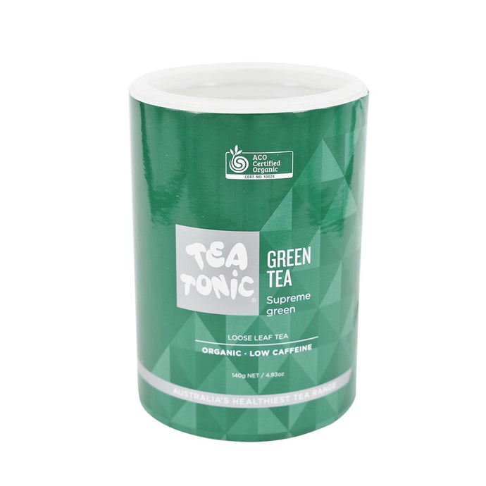 Tea Tonic, Organic Green Tea Tube, 140g