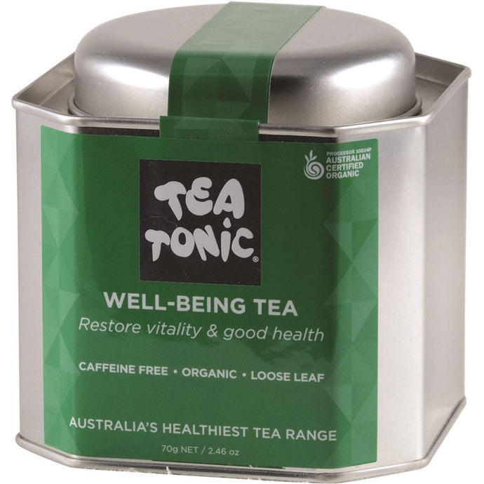 Tea Tonic, Organic Well-Being Tea Tin, 70g