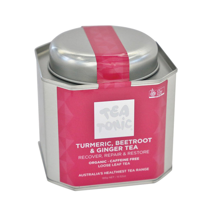 Tea Tonic, Turmeric Beetroot And Ginger Tea Tin, 185g