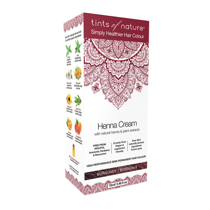 Tints Of Nature, Henna Cream Burgundy, 70ml
