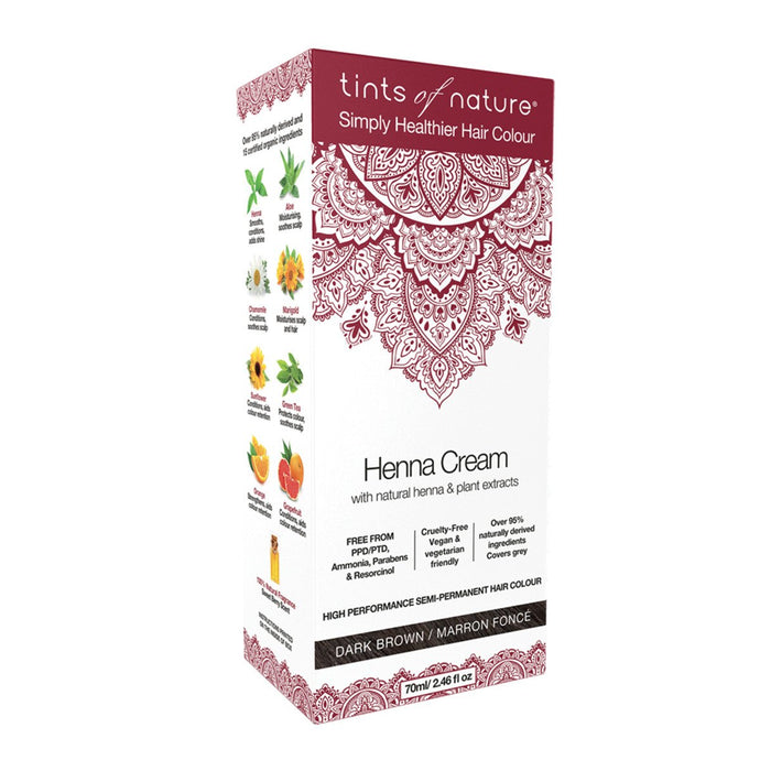 Tints Of Nature, Henna Cream Dark Brown, 70ml
