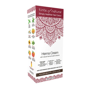 Tints Of Nature, Henna Cream Golden Brown, 70ml