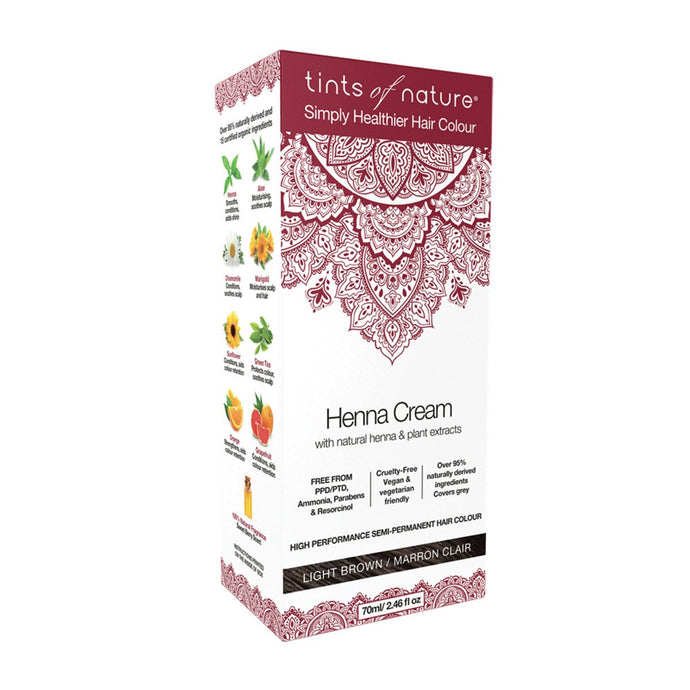 Tints Of Nature, Henna Cream Light Brown, 70ml