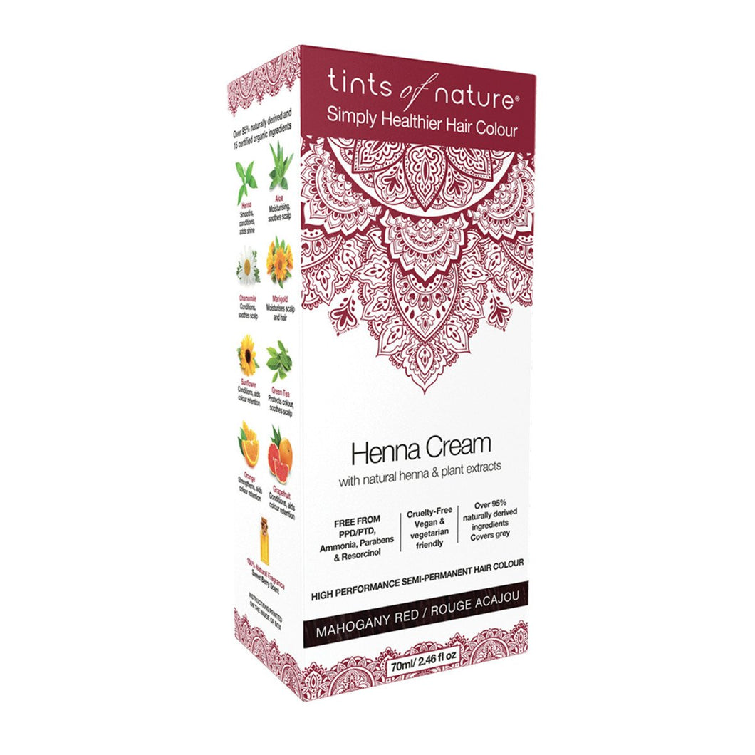 Tints Of Nature, Henna Cream Mahogany Red, 70ml