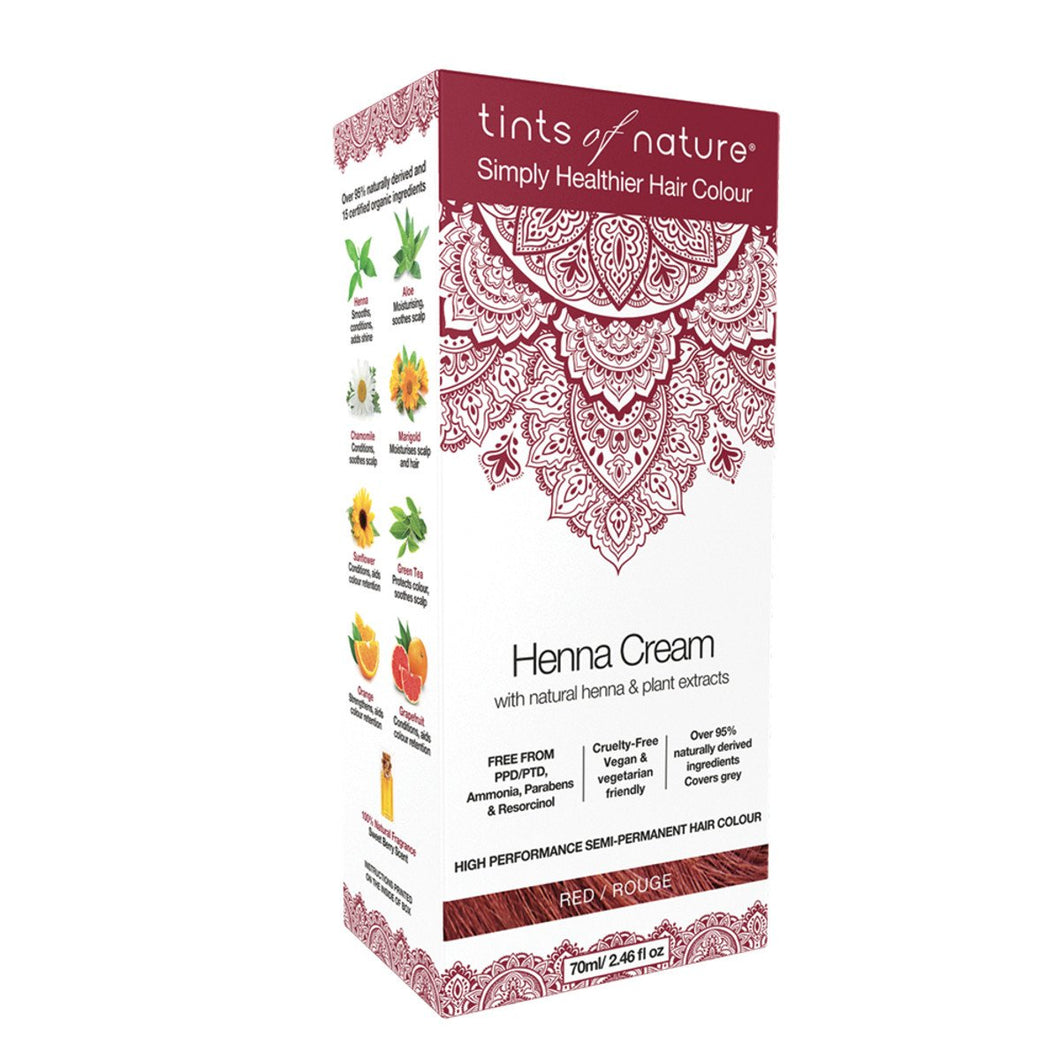Tints Of Nature, Henna Cream Red, 70ml