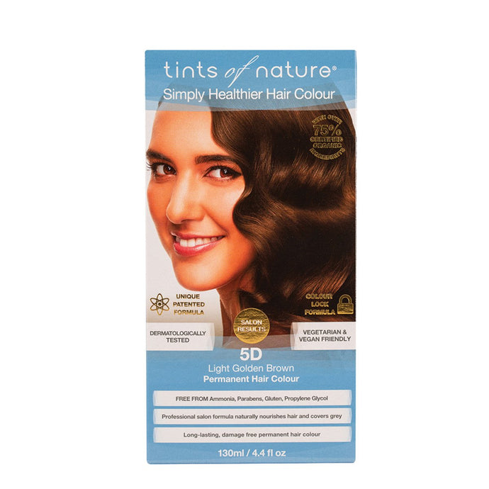 Tints Of Nature, Permanent Hair Colour Light Golden Brown, 5D