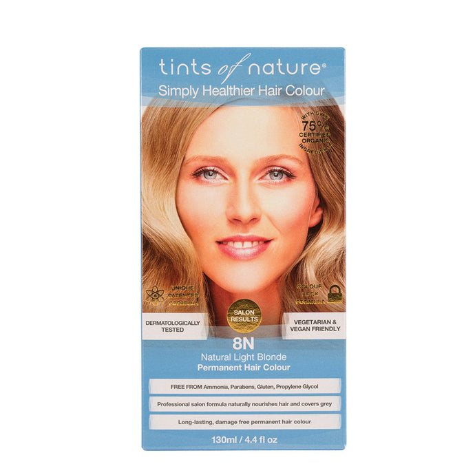 Tints Of Nature, Permanent Hair Colour Natural Light Blonde, 8N