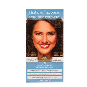 Tints Of Nature, Permanent Hair Colour Natural Light Brown, 5N