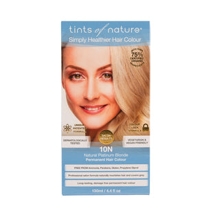 Tints Of Nature, Permanent Hair Colour Natural Platinum Blonde, 10N