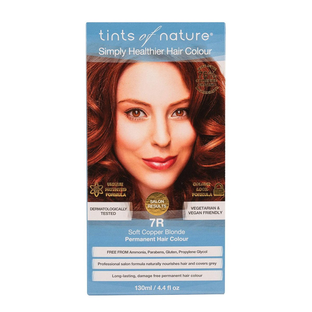Tints Of Nature, Permanent Hair Colour Soft Copper Blonde, 7R