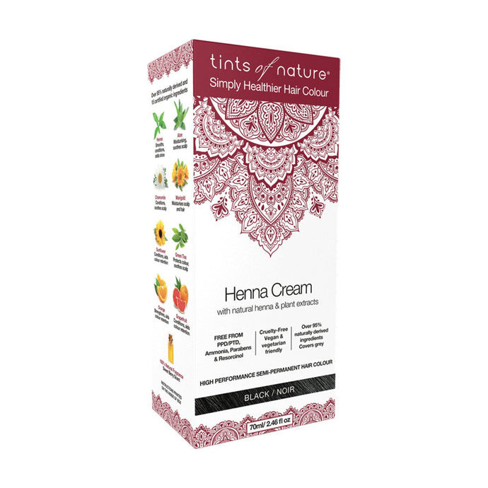 Tints Of Nature,henna Cream Black, 70ml