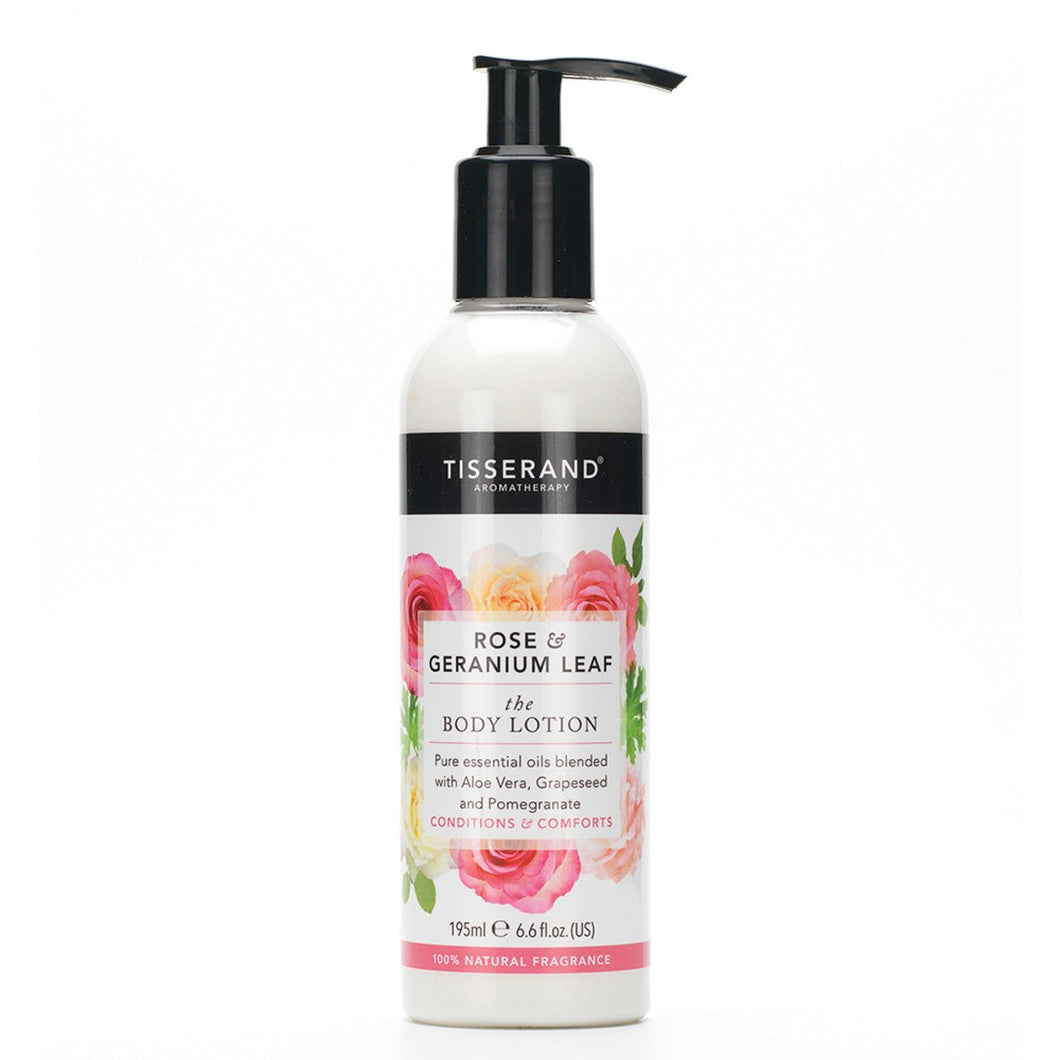 Tisserand, Body Lotion Rose And Geranium Leaf, 195ml