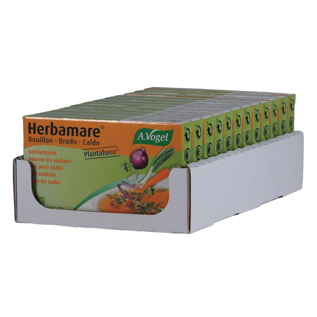 Vogel, Herbamare Bouilion Low Sodium Vegetable Stock Cube (9.5g x 8) x 12 Display