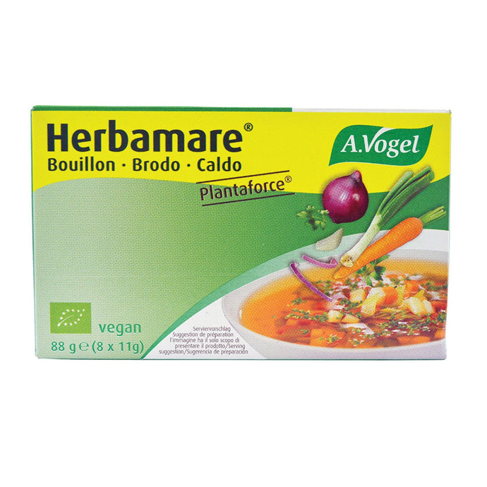Vogel, Herbamare Bouillon Low Sodium Vegetable Stock Cube (9.5g x 8), 1 Pack