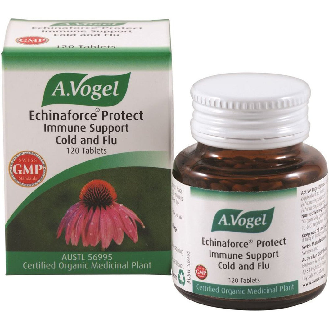 Vogel, Organic Echinaforce Protect Immune Support Cold & Flu, 120 Tablets