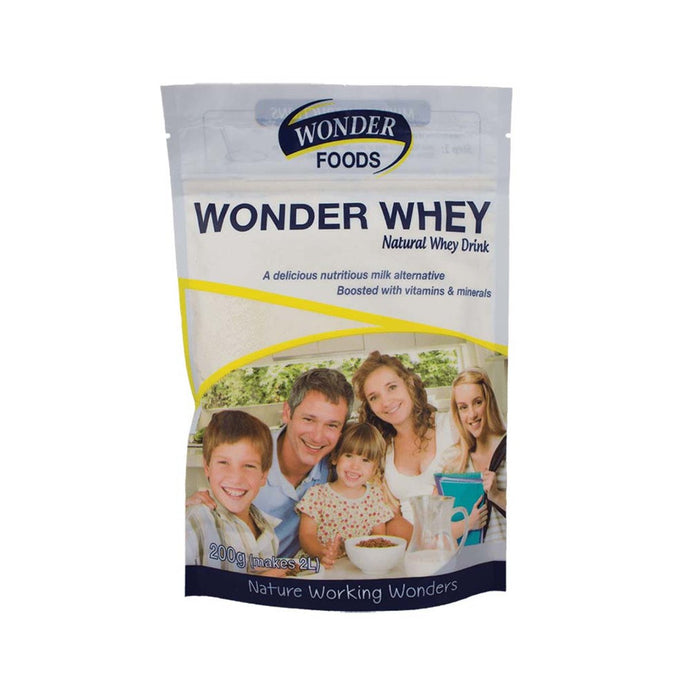 Wonder Foods, Wonder Whey (Natural Whey Drink), 200g Powder
