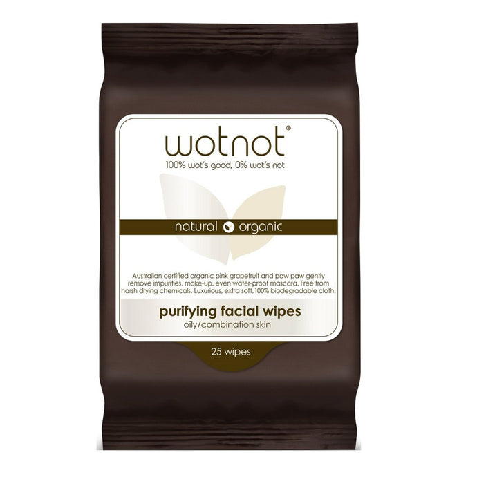 Wotnot, Facial Wipes Purifying x 25 Pack (Soft Pack)
