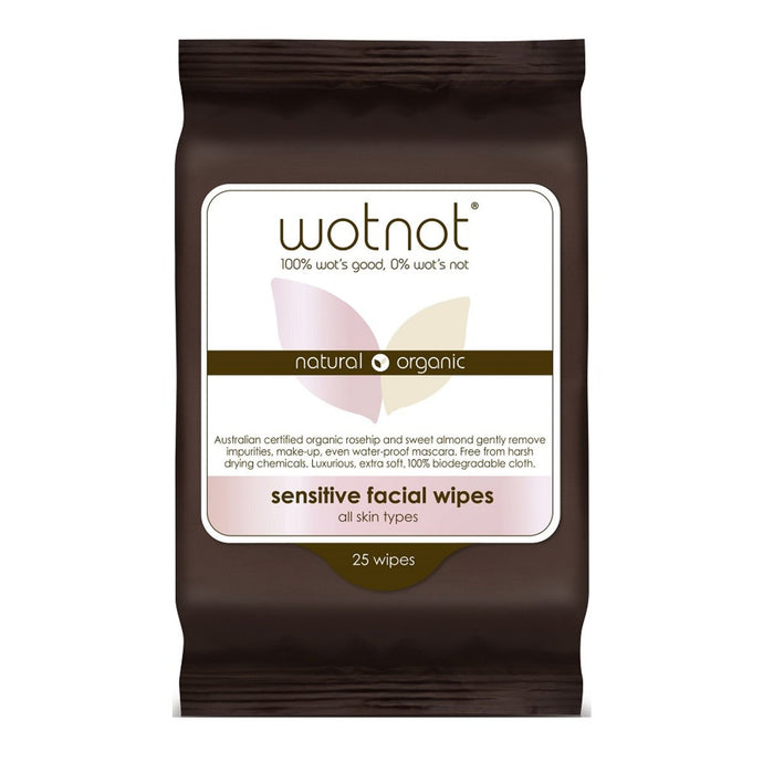 Wotnot, Facial Wipes Sensitive x 25 Pack (Soft Pack)