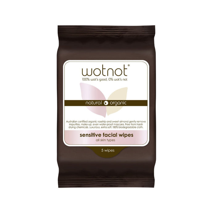Wotnot, Facial Wipes Sensitive x 5 Pack