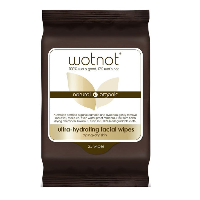 Wotnot, Facial Wipes Ultra Hydrating x 25 Pack (Soft Pack)