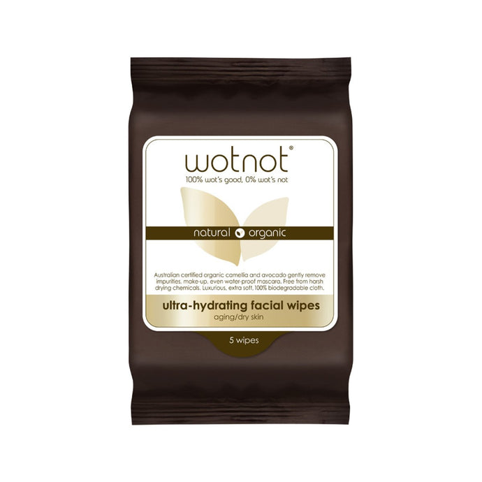 Wotnot, Facial Wipes Ultra Hydrating x 5 Pack