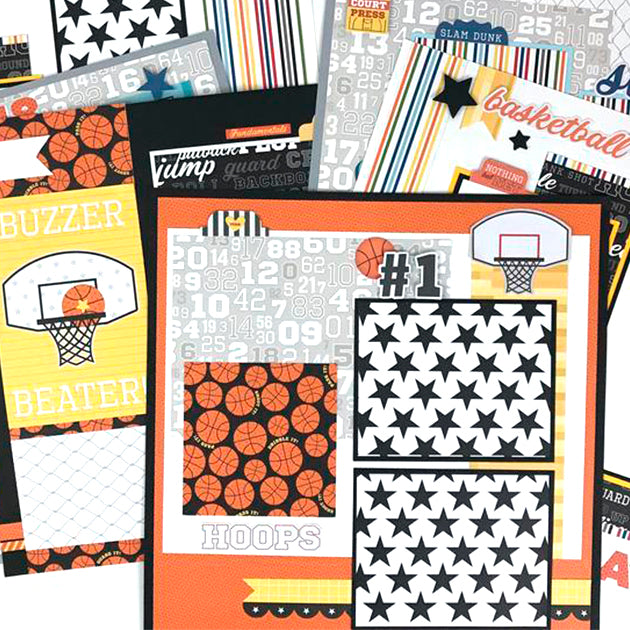 12x12 Basketball Layout Instructions, Digital Download