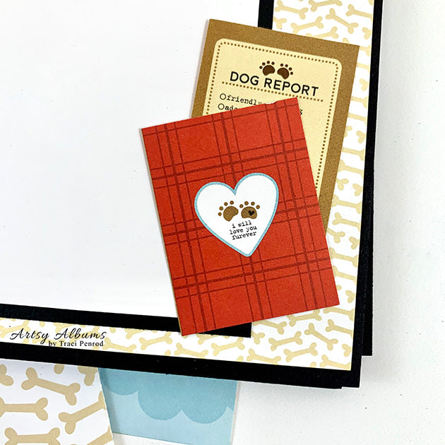 Preassembled Doghouse Puppy Scrapbook Mini Album