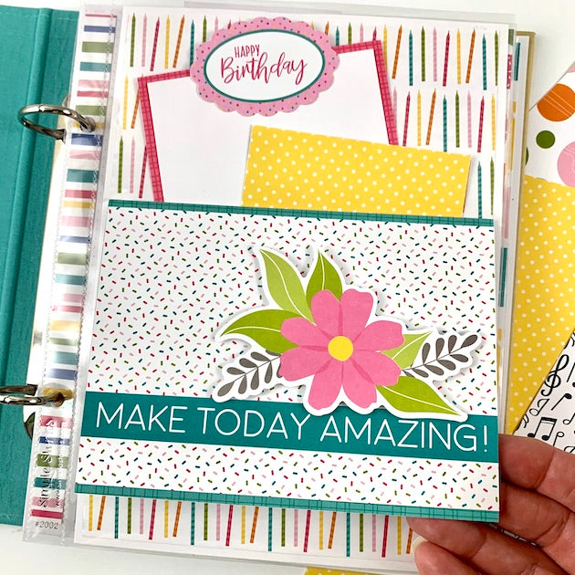 Make A Wish Birthday Scrapbook Album Instructions, Digital Download