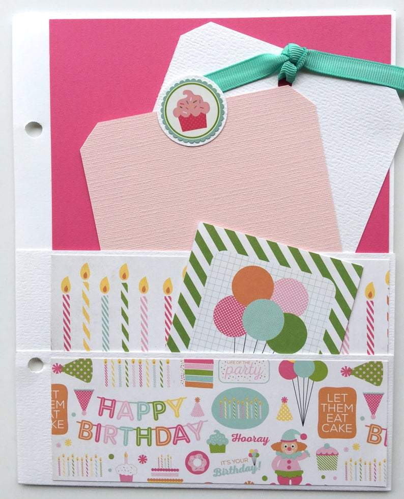 Birthday Wishes (Pink) Album Instructions, Digital Download