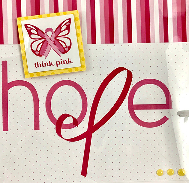 Preassembled Breast Cancer Scrapbook Album