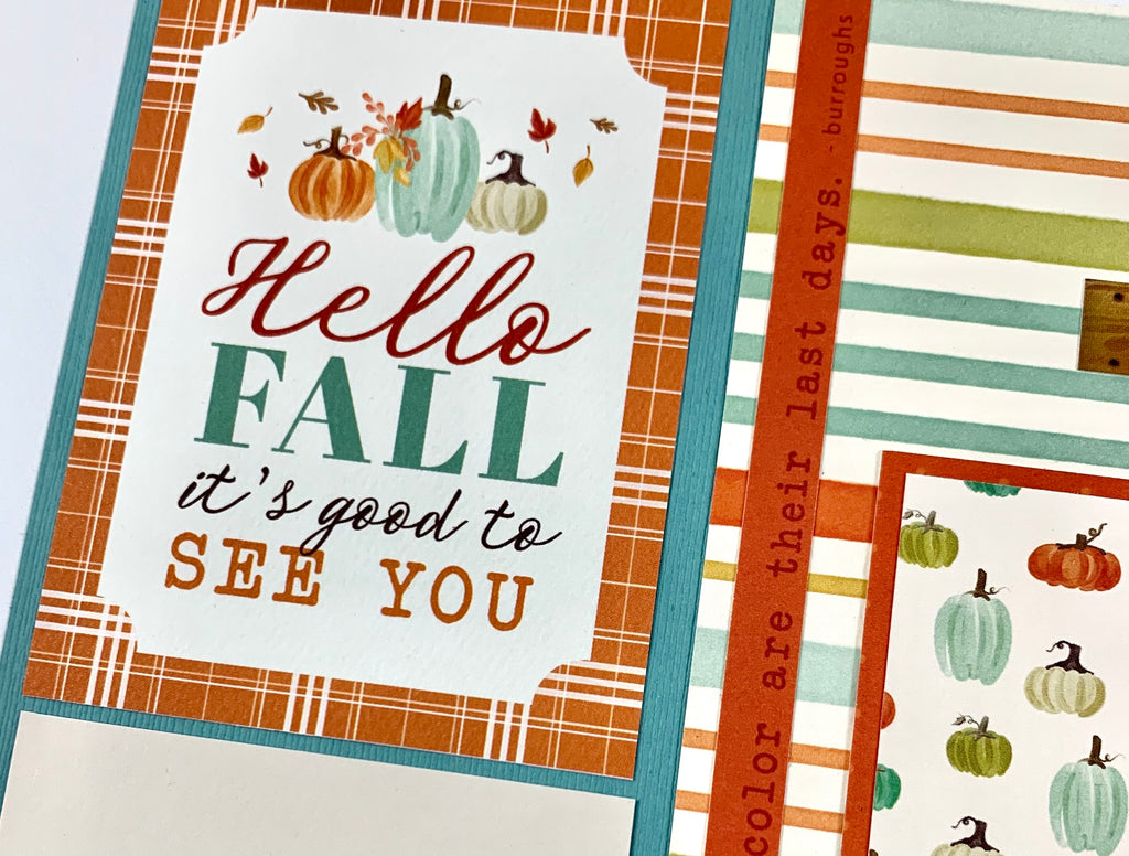 Fall Scrapbook Page Kit by Artsy Albums