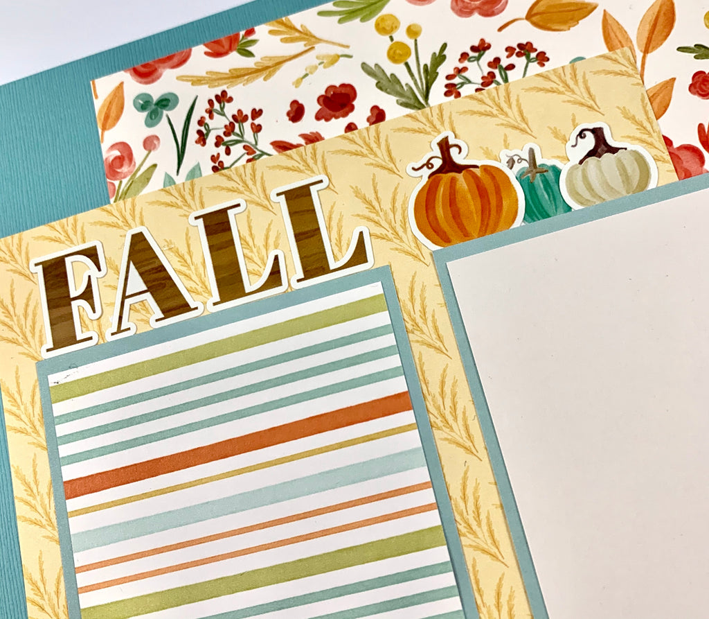 12x12 Fall Thanksgiving Layout Instructions, Digital Download