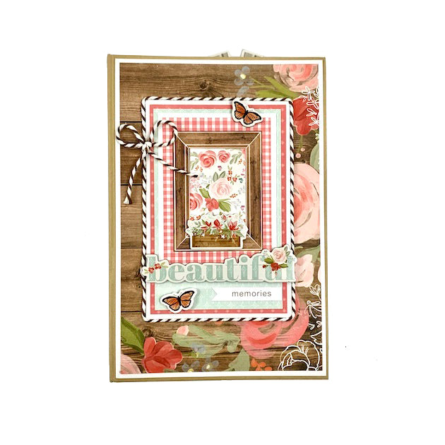 Beautiful Memories Scrapbook Album Kit Vintage Farmhouse