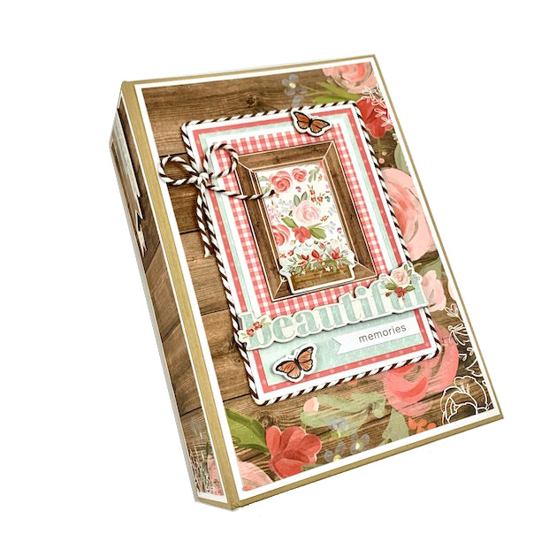 Beautiful Memories Preassembled Scrapbook Album Kit Vintage Farmhouse