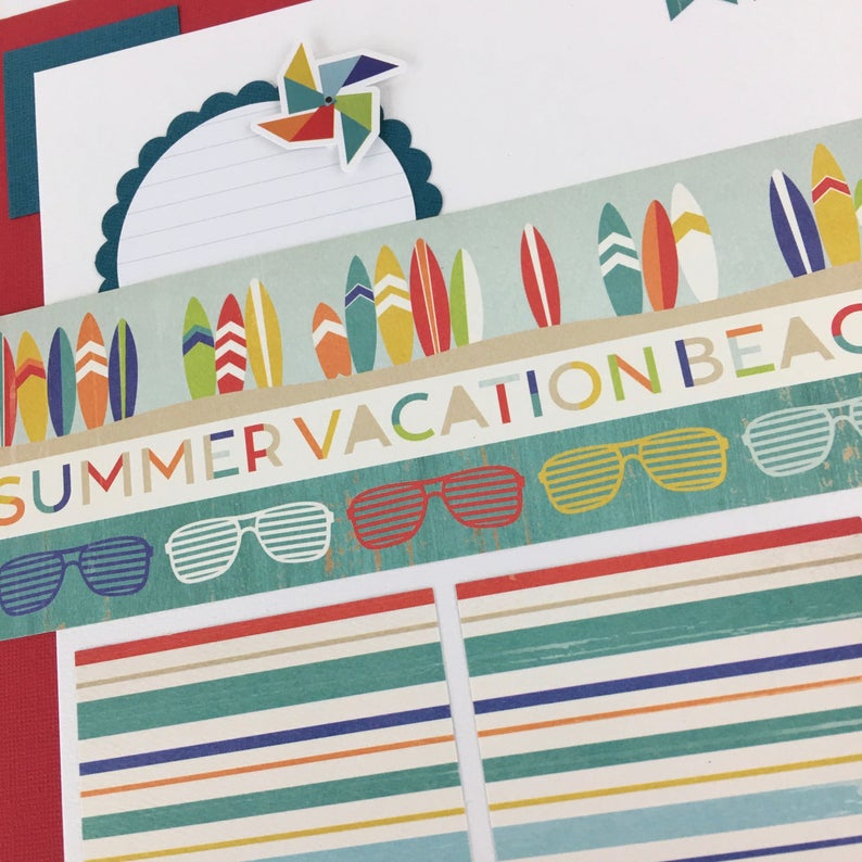12x12 Beach Summer Layout Instructions, Digital Download