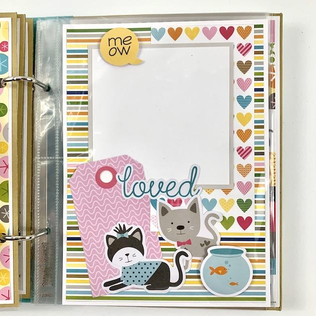 Cat Kitten Scrapbook Album Instructions, Digital Download