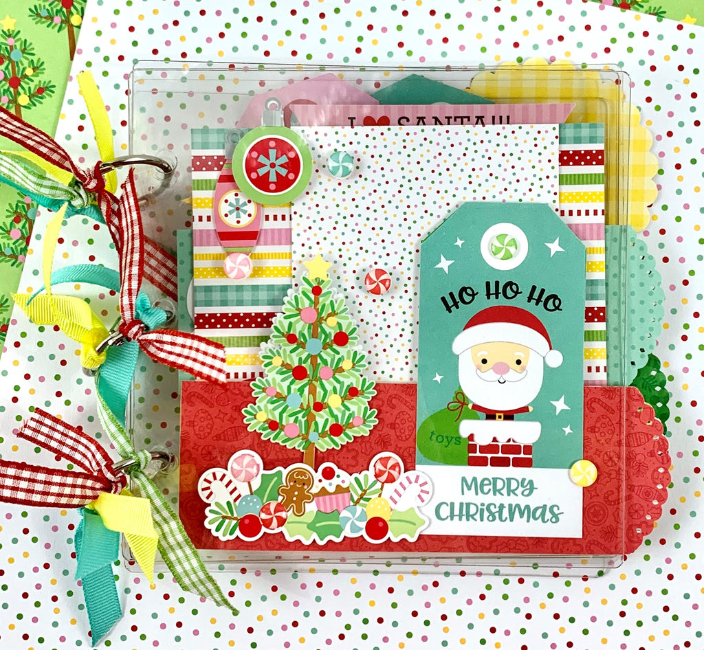 Clearly Christmas Scrapbook Album Kit