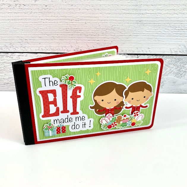 Preassembled The Elf Made Me Do It, Christmas Scrapbook Album