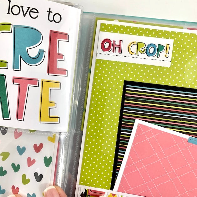 Crafting With My Gnomies Scrapbook Album Kit