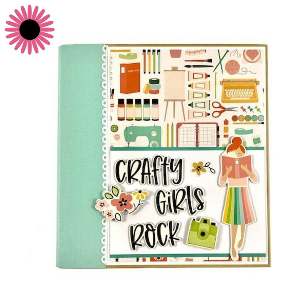 Crafty Girls Rock Scrapbook Instructions, Digital Download
