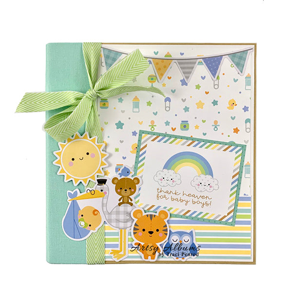 Preassembled Baby Boy Scrapbook Album
