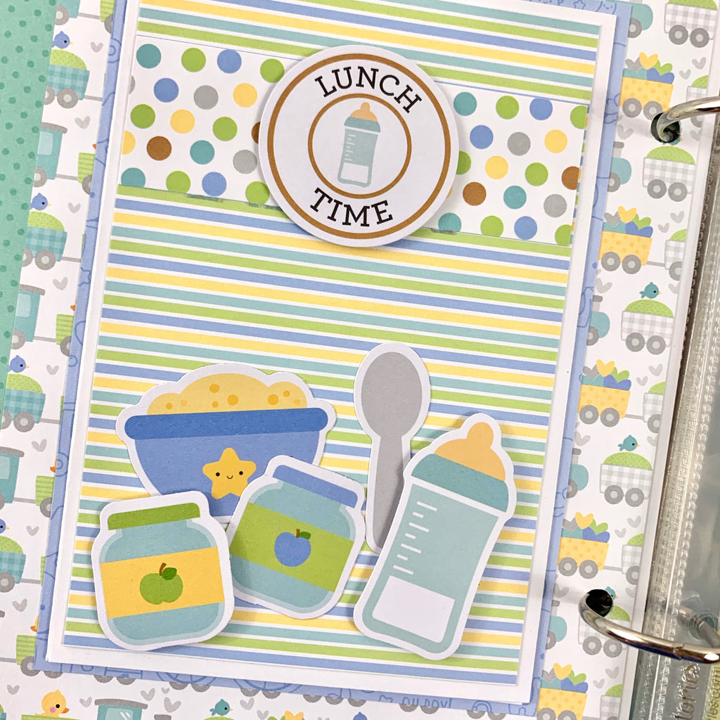 Baby Boy Scrapbook Mini Album Kit